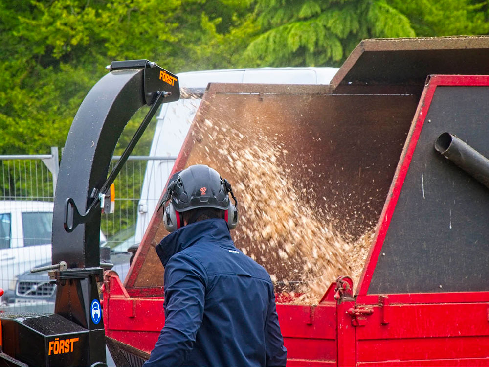 Woodchipper Demonstration among many other demos for visitors