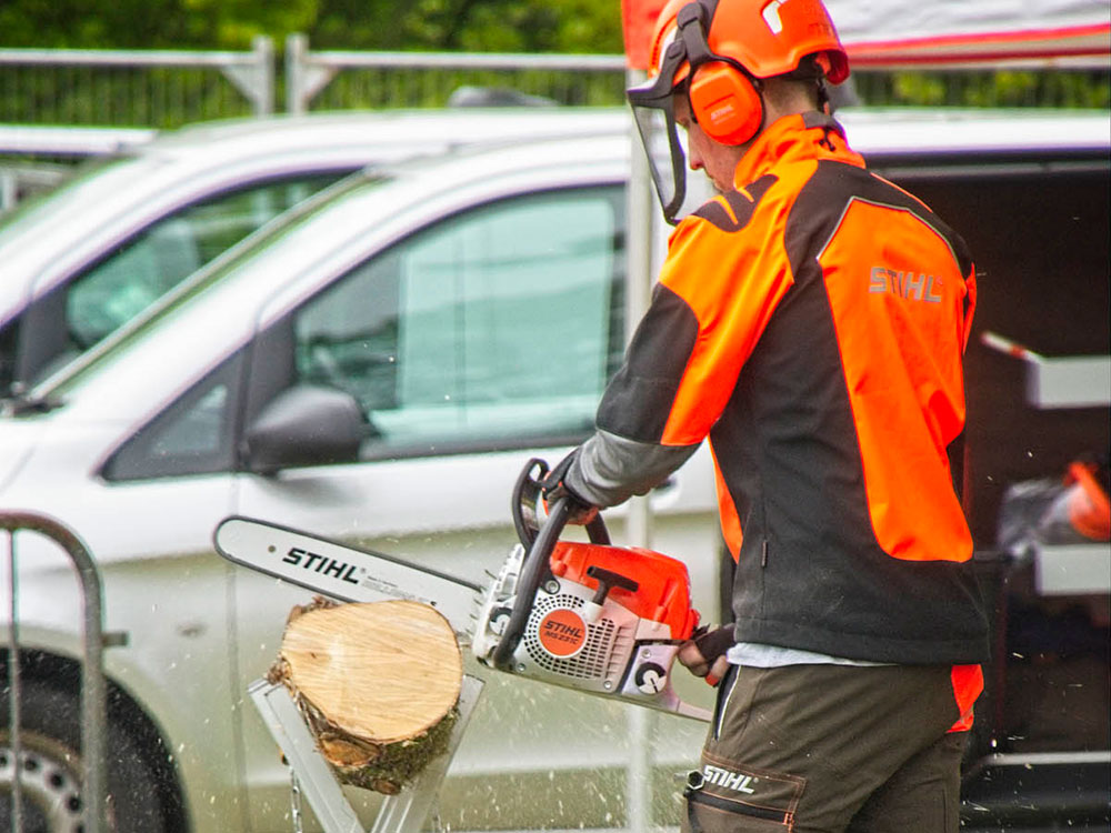 STIHL demonstrations as well as their carving expert were there to entertain