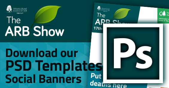Download the ARB Show Exhibitor Social Card PSD template ZIP
