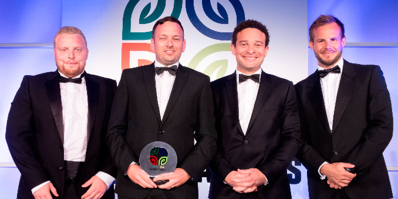 Artemis Tree Services – The Artemis Team accepting the award