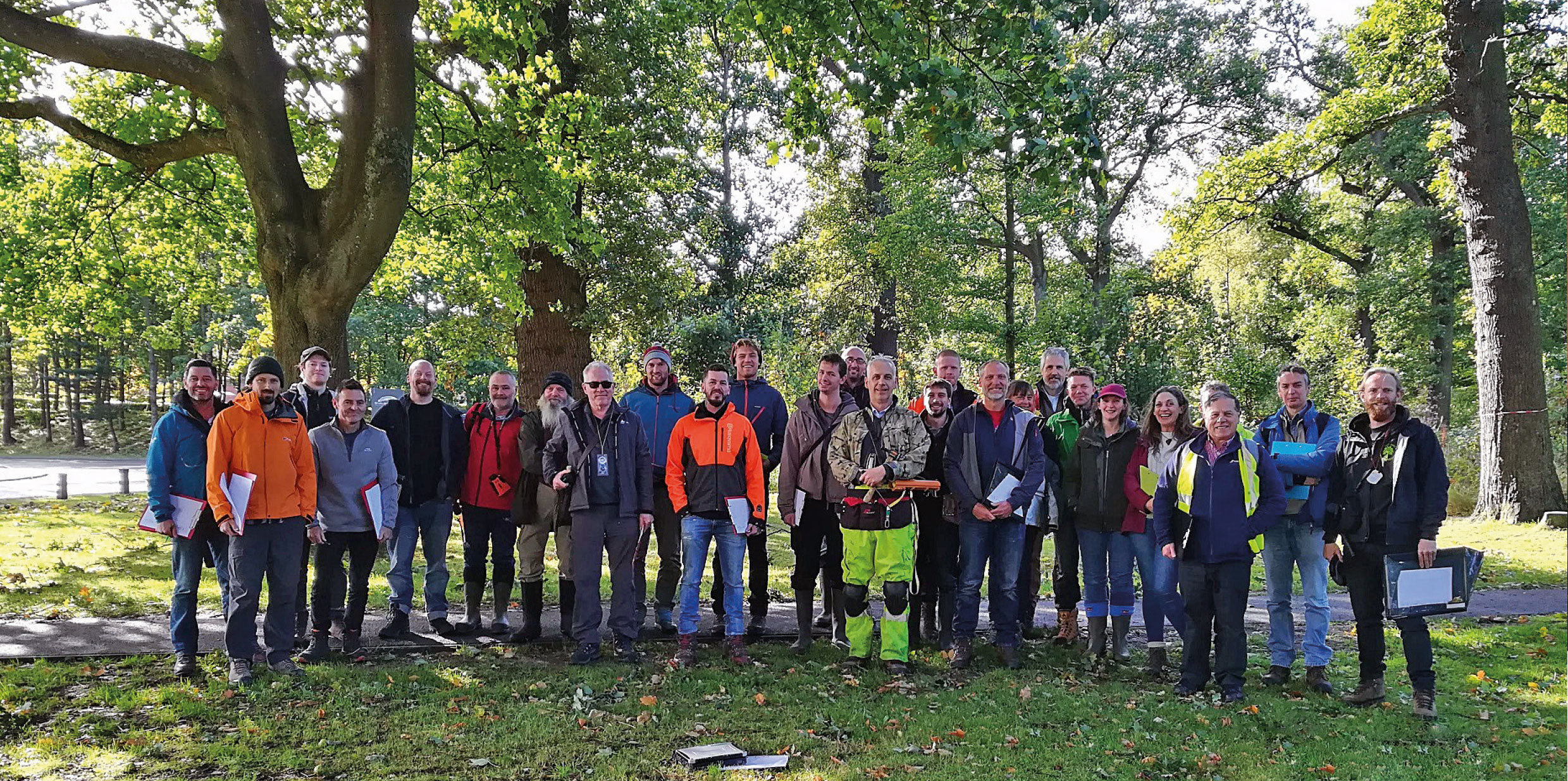 Delegates in Stirling for Scottish Branch's Hazard Tree Inspection course.