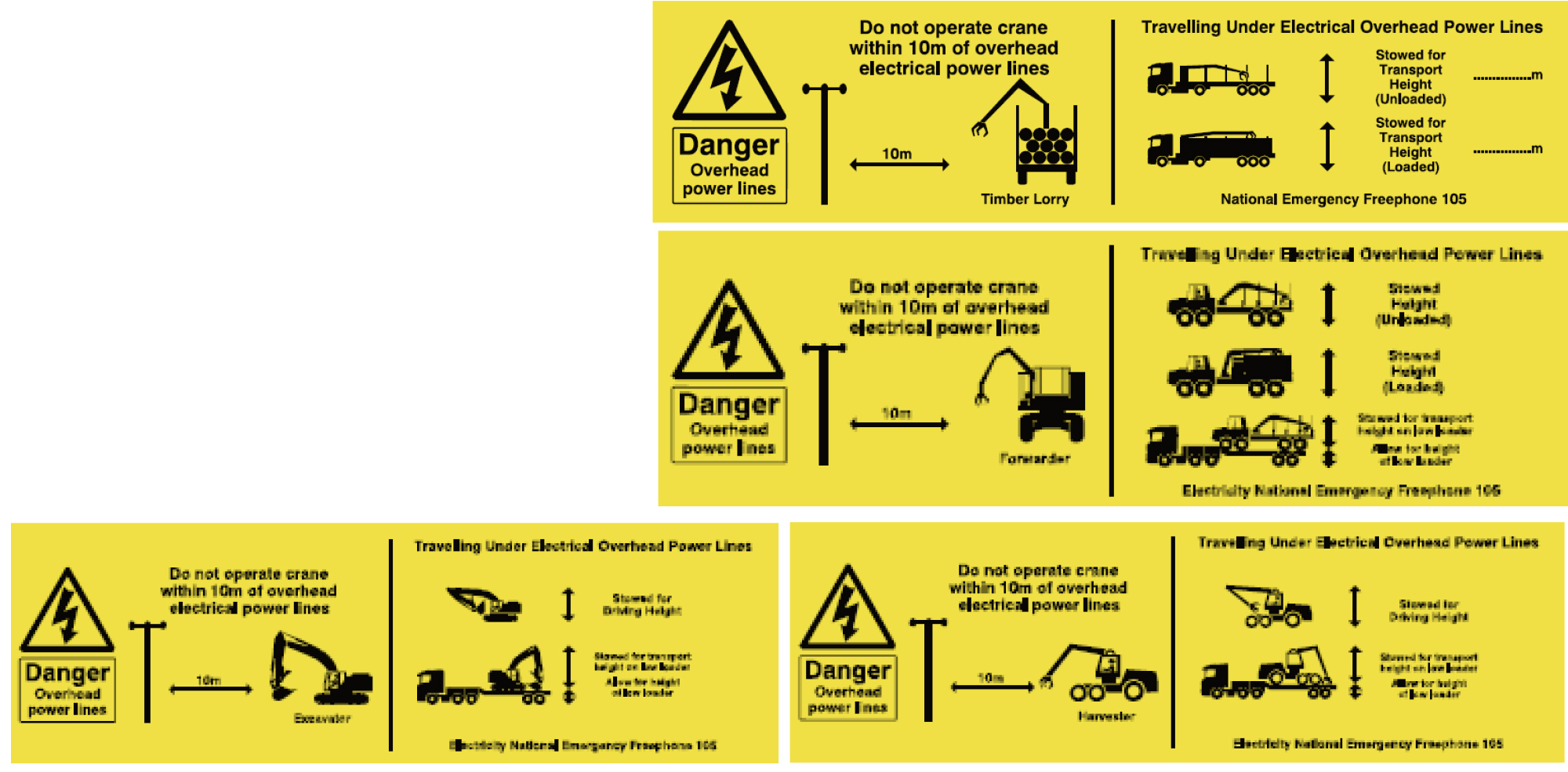 Range of cab stickers
