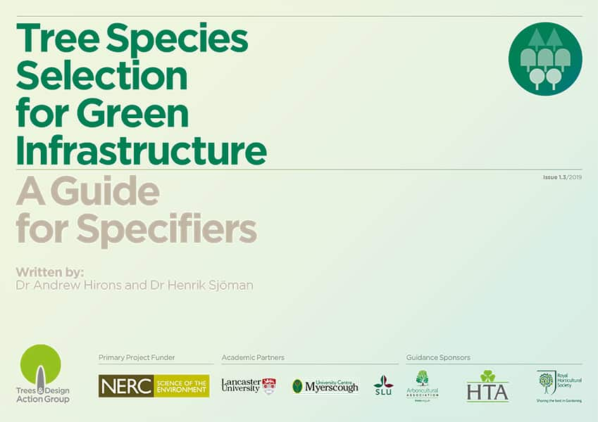 Tree Species Selection for Green Infrastructure: A Guide for Specifiers